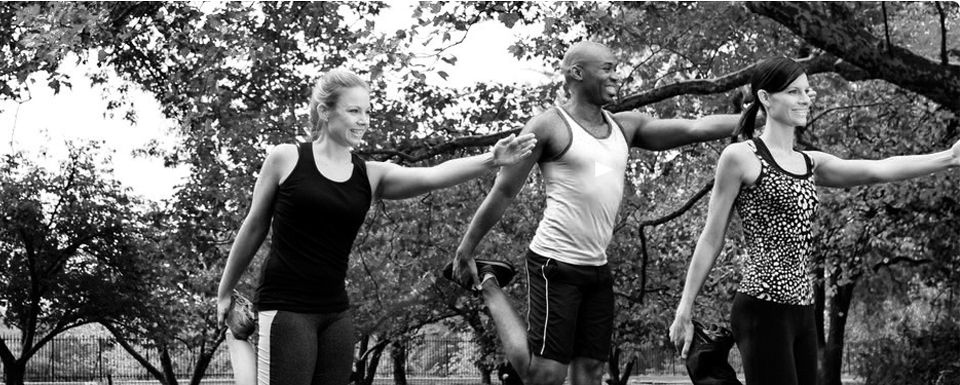 black and white photo of people exercising at a bootcamp- West bridgford bootcamp  with James Hemmings